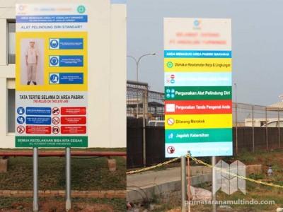 Papan Tata Tertib Keselamatan Kerja (K3) Area Pabrik