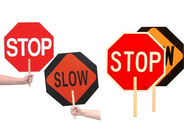 STOP/SLOW Paddles