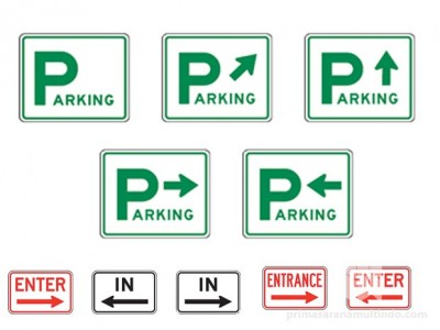 Rambu Parkir (Directional Parking Sign)
